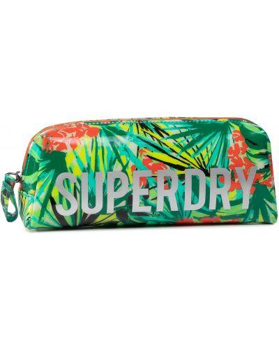 Zielone etui na okulary Superdry