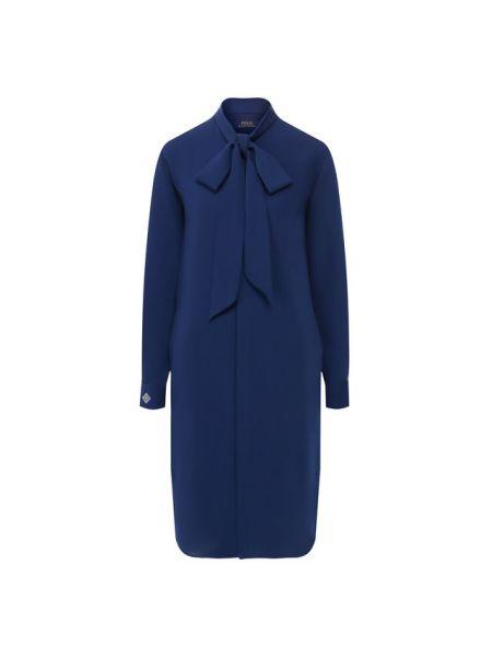 Платье осеннее синее Polo Ralph Lauren
