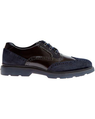 Кожаные ботинки броги с узором Hogan