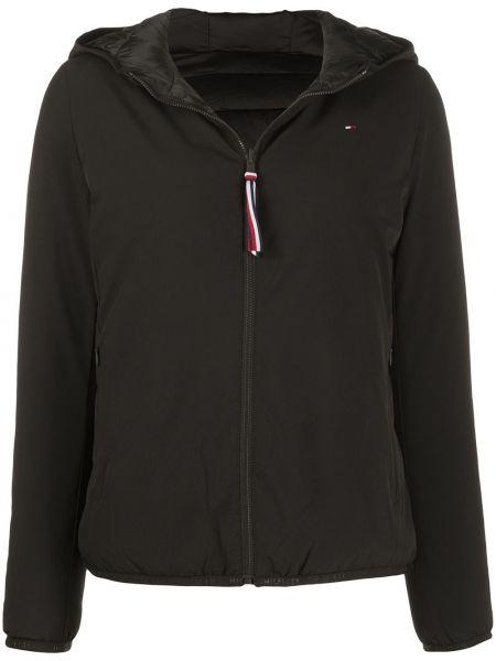 Куртка с капюшоном черная длинная Tommy Hilfiger