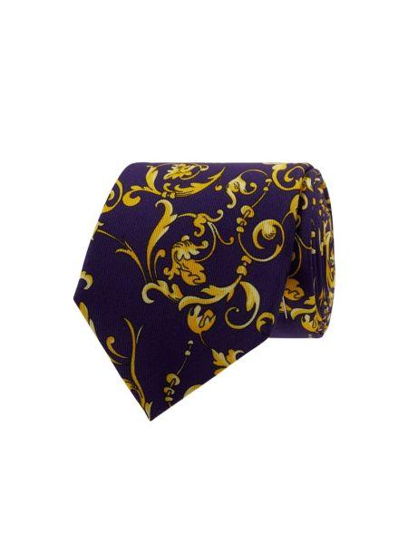 Fioletowy krawat z jedwabiu Blick