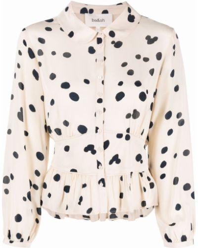 Белая блузка в горошек Ba&sh