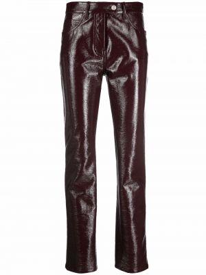 Кожаные брюки - красные Courrèges