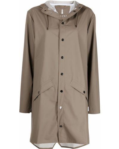 Длинная куртка с капюшоном на кнопках Rains