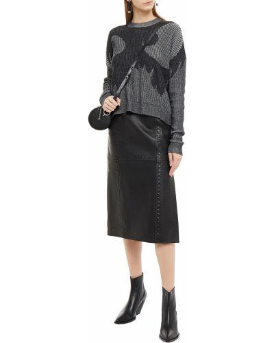 Ватный черный свитер жаккардовый Mcq Alexander Mcqueen