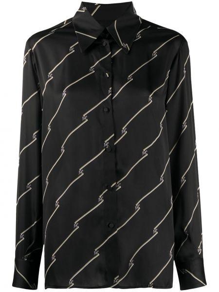 Рубашка в полоску - черная Msgm