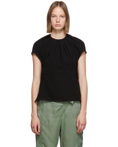 С рукавами черная блузка с воротником 3.1 Phillip Lim