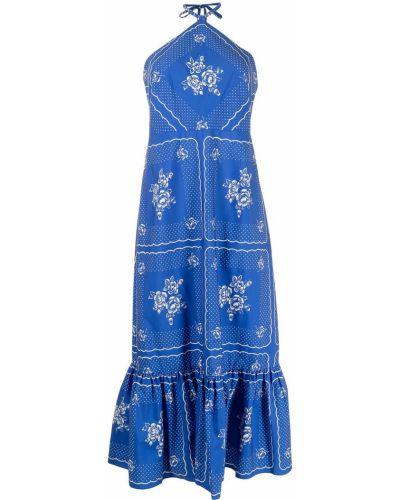 Хлопковое платье миди - синее Alice Mccall