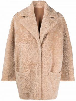 Бежевая кожаная куртка Simonetta Ravizza