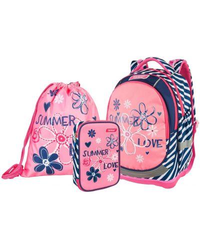 Розовый школьный ранец Target