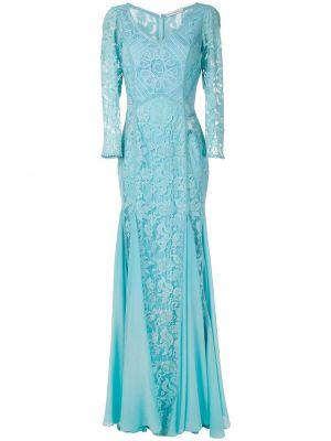 Синее прямое платье на молнии из вискозы Martha Medeiros