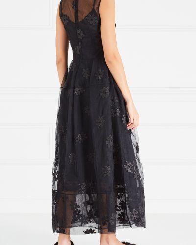 Платье макси с вышивкой сетчатое Simone Rocha