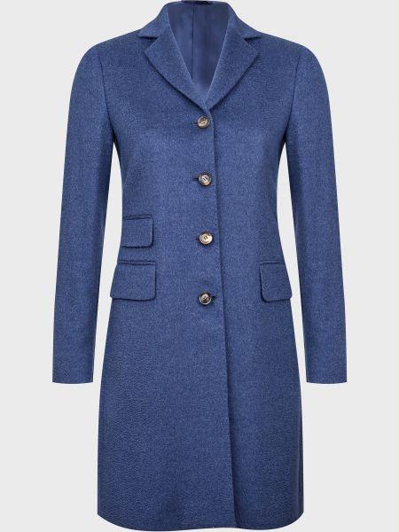 Кашемировое пальто - синее Kiton
