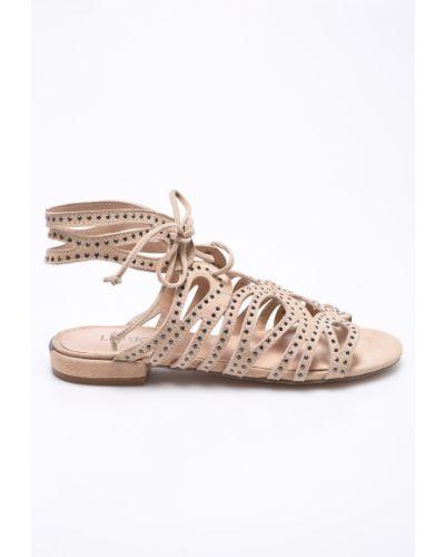 Бежевые сандалии на шнуровке Liu Jo