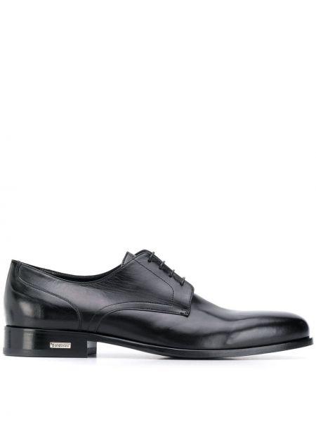 Черные кожаные туфли на каблуке Baldinini