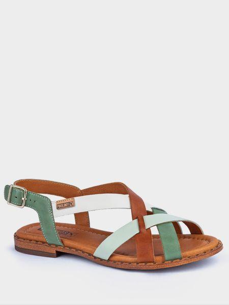 Повседневные кожаные сандалии на каблуке Pikolinos
