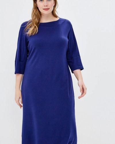 Платье вязаное синее Matilda