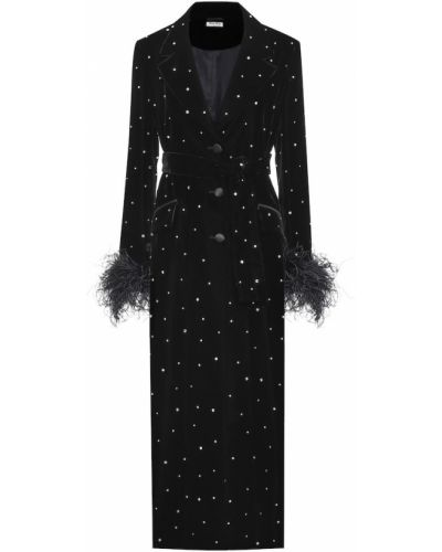 Черное пальто Miu Miu