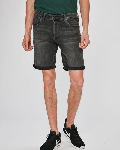 Серые джинсовые шорты Jack & Jones