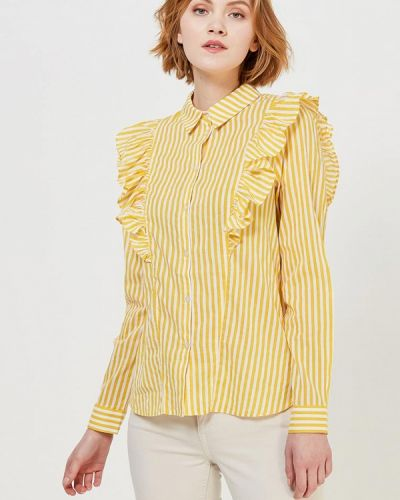 Желтая блузка с рюшами Noisy May