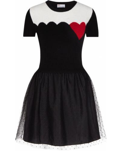 Платье мини в рубчик из вискозы Red Valentino