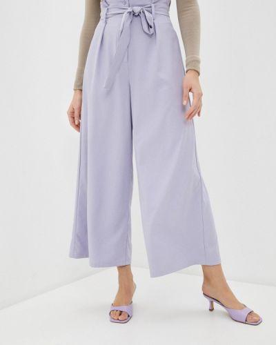 Фиолетовые повседневные брюки снежная королева