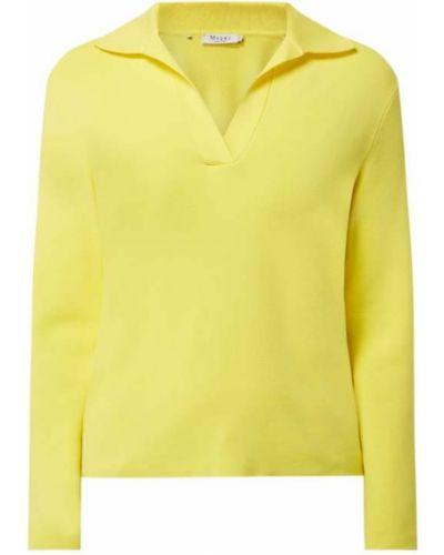 Żółty t-shirt z długimi rękawami z wiskozy Maerz Muenchen