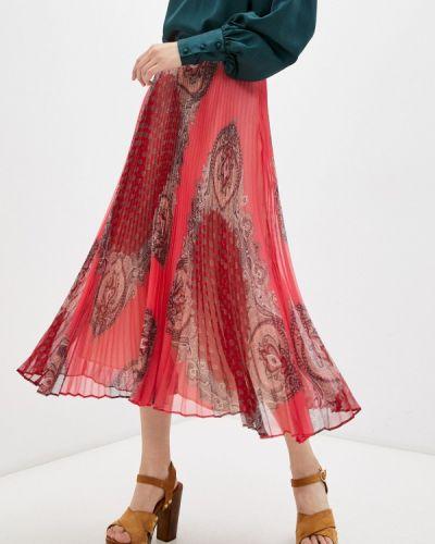 Красная плиссированная юбка Twinset Milano