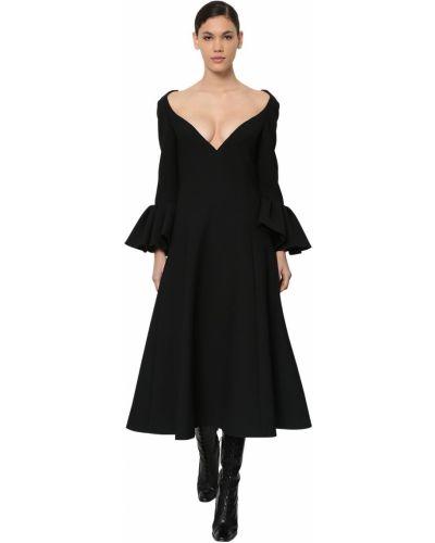 Платье миди с длинными рукавами - черное Marc Jacobs