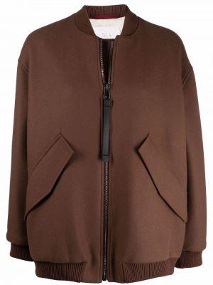 Коричневая шерстяная куртка Tela