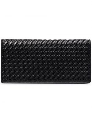 Кожаный черный кошелек с карманами на молнии Ermenegildo Zegna