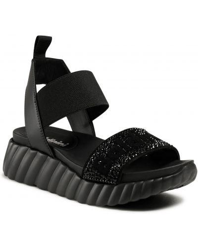 Czarne sandały zamszowe Baldinini