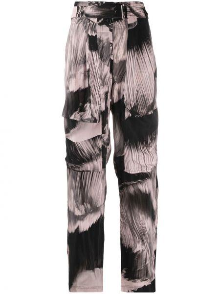 Розовые прямые брюки с карманами Paul Smith