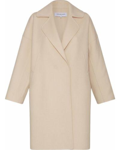Белое шерстяное пальто с воротником Gerard Darel
