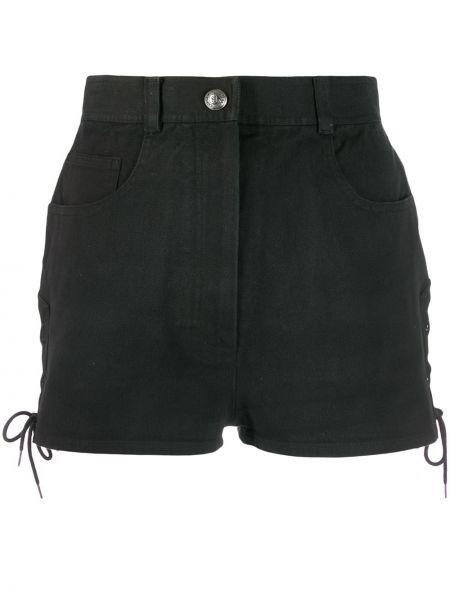 Хлопковые черные шорты с поясом Chanel Pre-owned