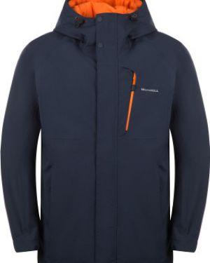 Прямая синяя утепленная куртка мембранная на молнии Merrell