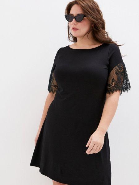 Черное повседневное платье Over