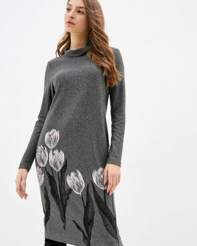Серое платье-свитер Helmidge