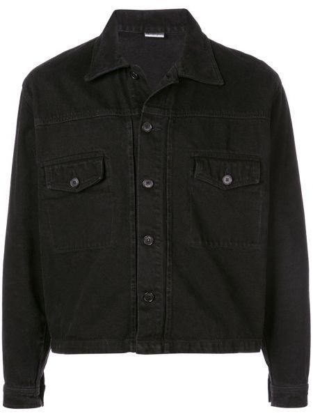 Классическая черная джинсовая куртка свободного кроя прозрачная Second/layer