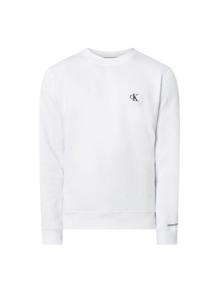 Bawełna bawełna biały bluzka z dekoltem Calvin Klein Jeans