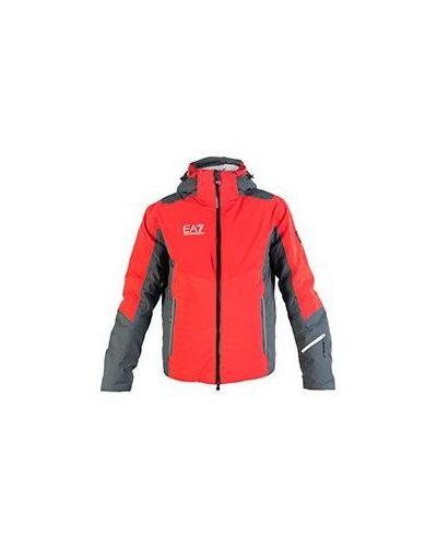 Оранжевая зимняя куртка Ea7