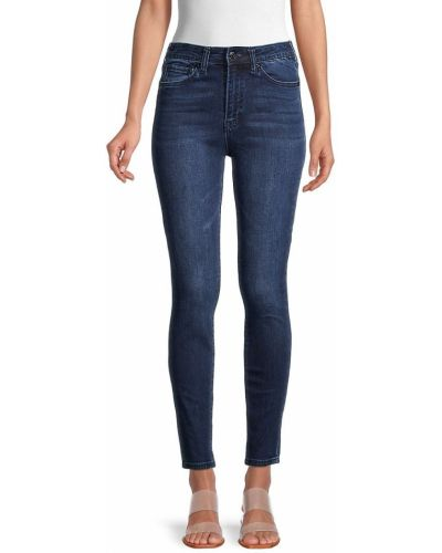 Синие зауженные джинсы-скинни стрейч True Religion