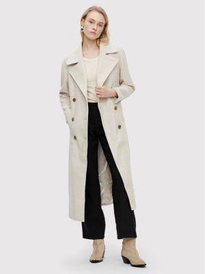 Płaszcz wełniany - beżowy Y.a.s