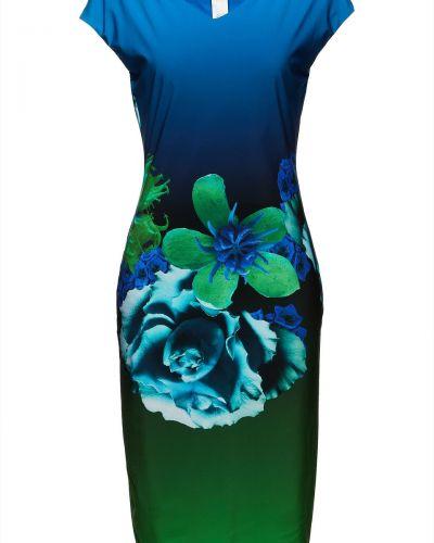 Трикотажное платье - синее Roberto Cavalli