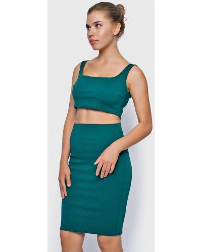 Зеленый юбочный костюм Malaeva