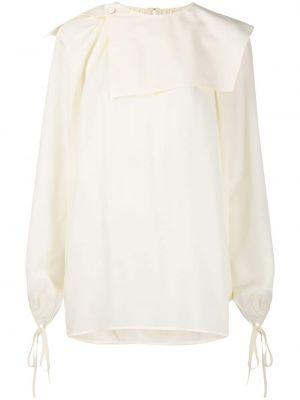 Шелковая блузка - белая Victoria Beckham