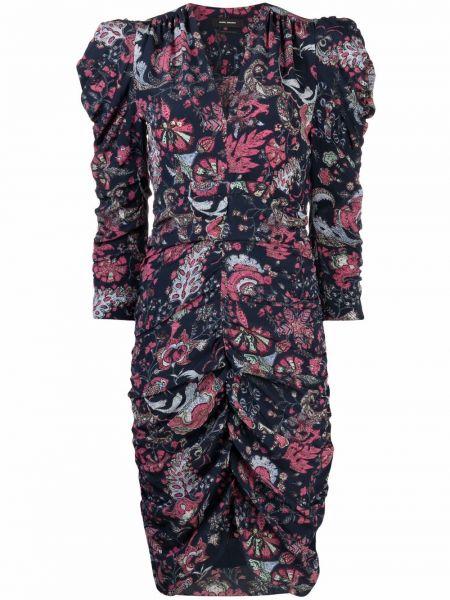 Платье макси с длинными рукавами - синее Isabel Marant