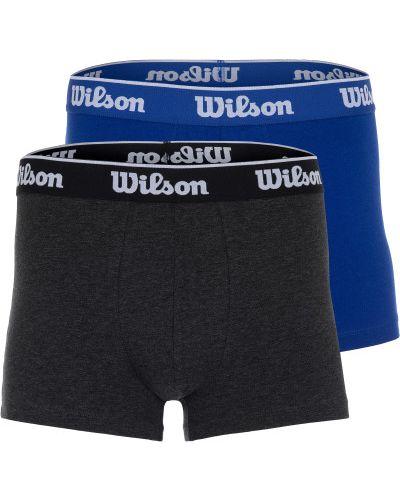 Трусы кожаные синий Wilson