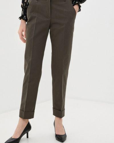 Повседневные зеленые брюки Anna Verdi
