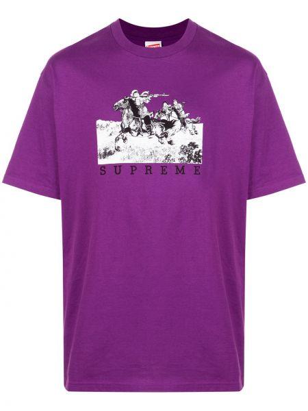 Koszula krótkie z krótkim rękawem fioletowy karmazynowy Supreme